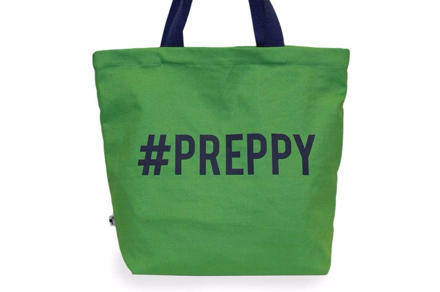 #preppy canvas tote bag. - FINAL SALE