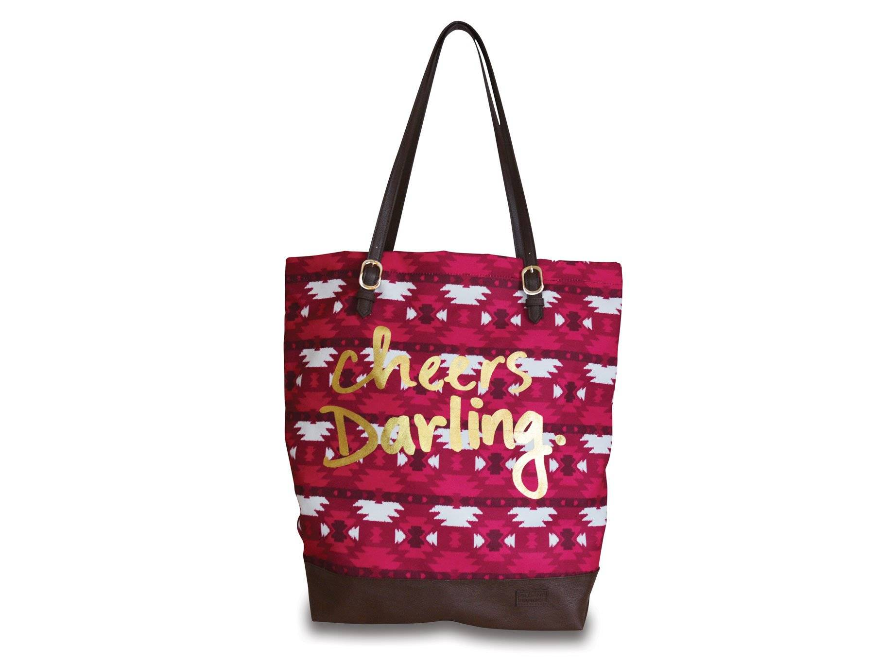 cheers darling holiday tote.