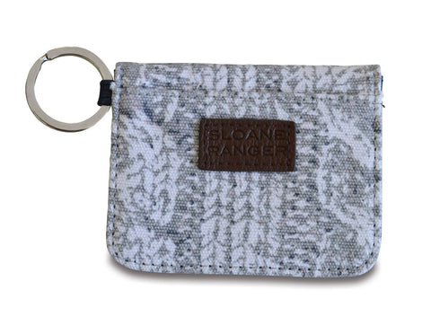 cable knit id case.
