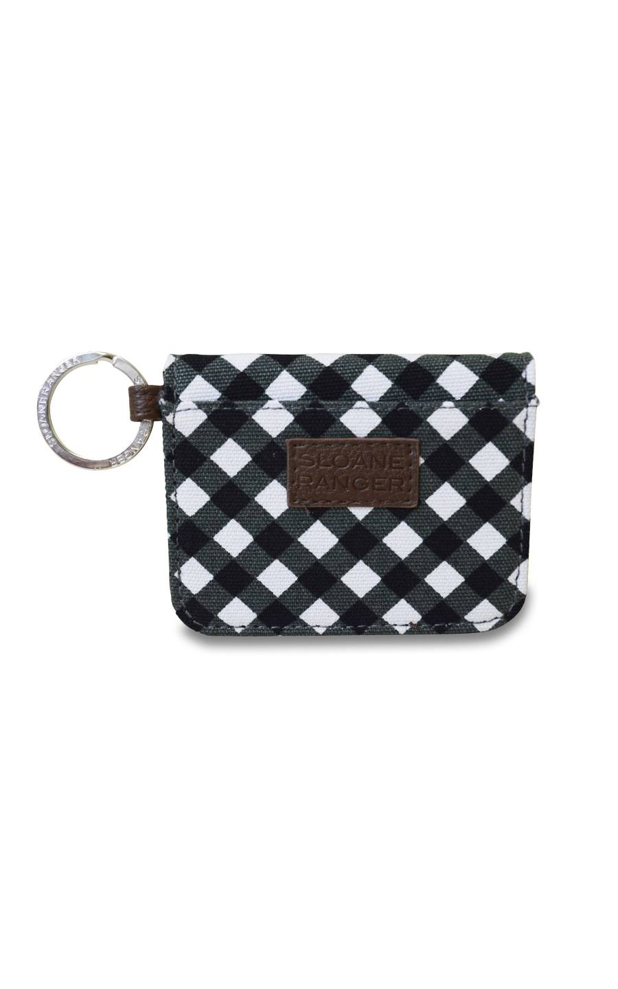 gingham id case.