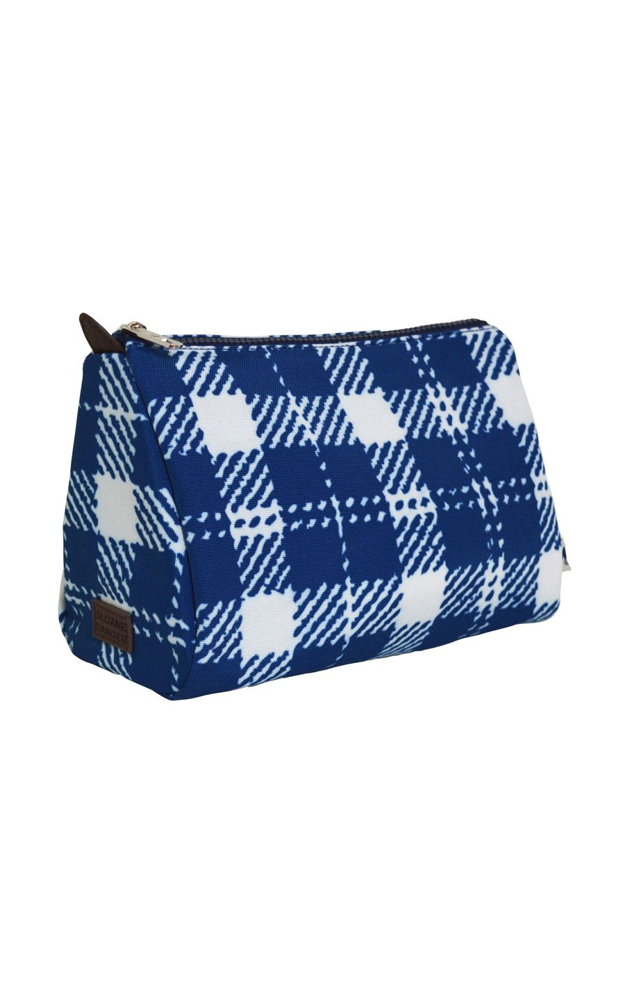 classic check cosmetic pouch. - FINAL SALE