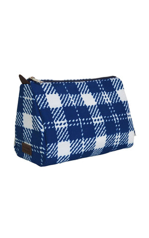classic check cosmetic pouch.
