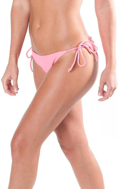 All For Color-Coral String Bikini Bottom-Bottoms