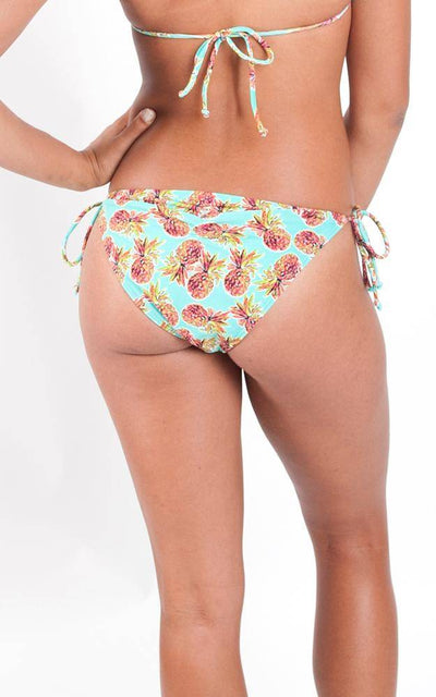 All For Color-Pineapple Kiss String Bikini Bottom - FINAL SALE-Bottoms