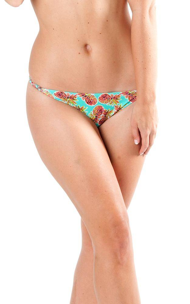 All For Color-Pineapple Kiss Braided Side Bikini Bottom-Bottoms