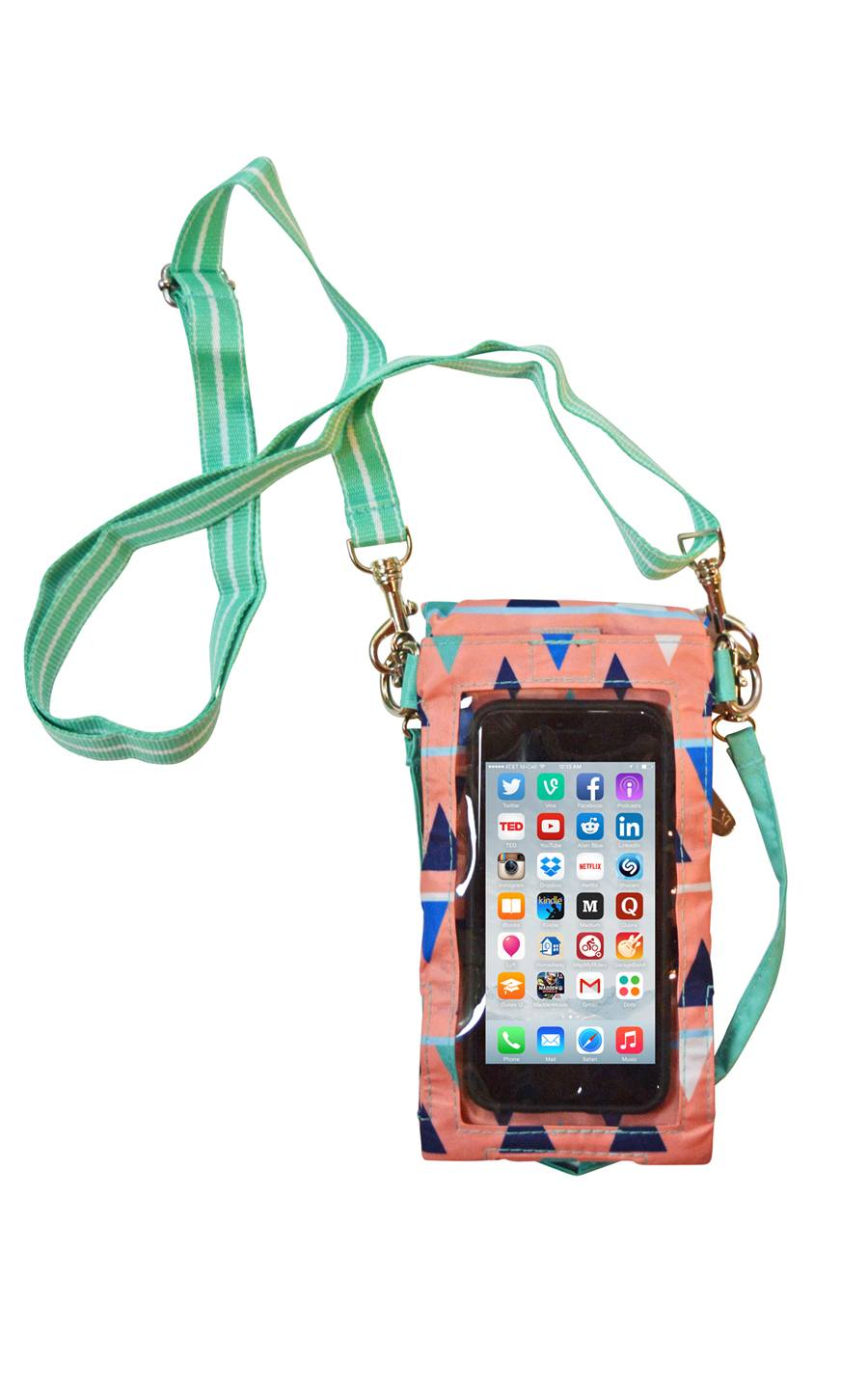 All For Color-Sand Castles Smartphone Crossbody Bag - FINAL SALE-Smartphone Crossbody Bag