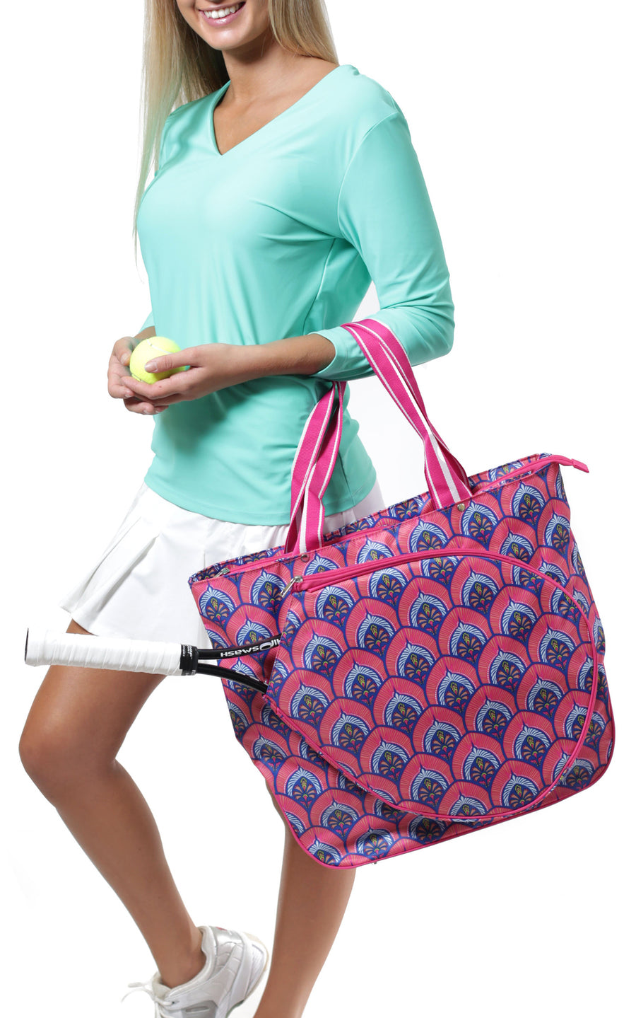 Bali Blooms Tennis Tote - FINAL SALE