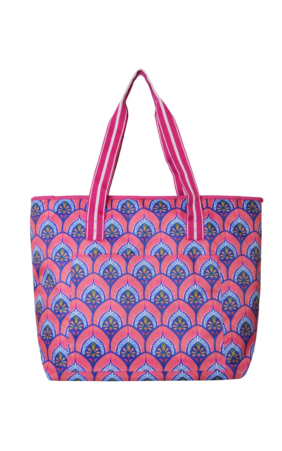 All For Color-Bali Blooms Cooler Tote - FINAL SALE-Cooler Bag