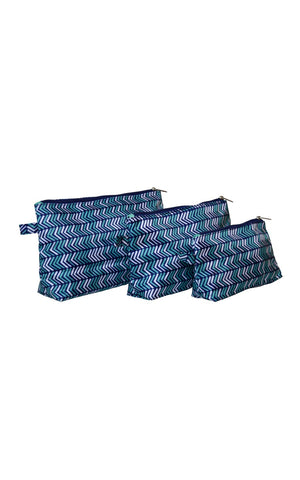 All For Color-Vacay This Way 3 Piece Cosmetic Bag Set-Cosmetic Cases