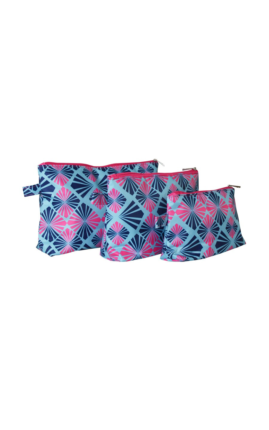 All For Color-Summer Rays 3 Piece Cosmetic Bag Set - FINAL SALE-Cosmetic Cases
