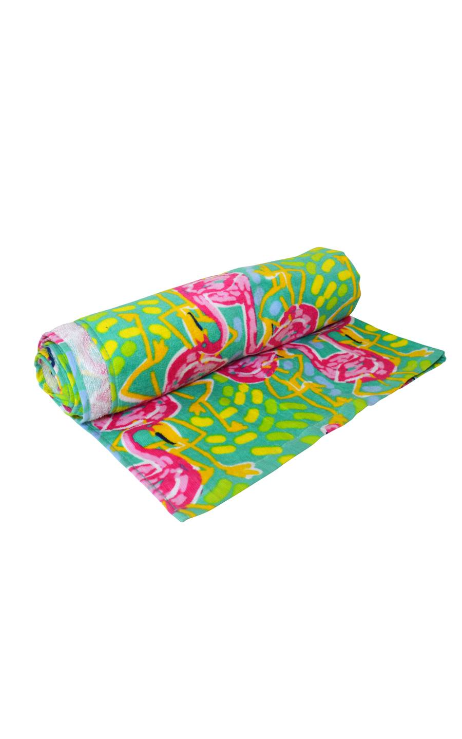All For Color-Flamingo Squad Beach Towel-Beach Towel