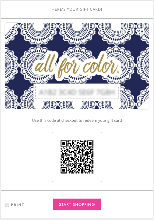 All For Color-Sand Dollar E-Gift Card-Gift Card