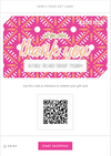 All For Color-Thank You Pink Prep Gift Card-Gift Card