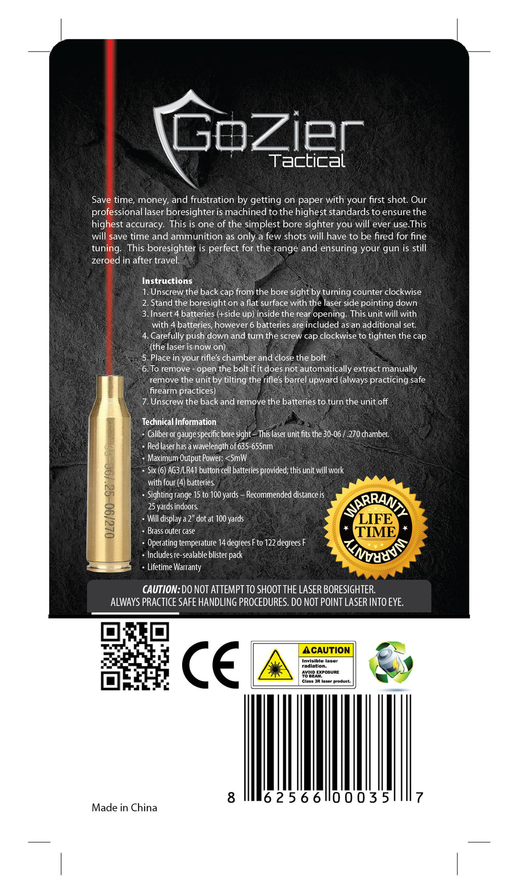 .30-06 Laser Bore Sighter