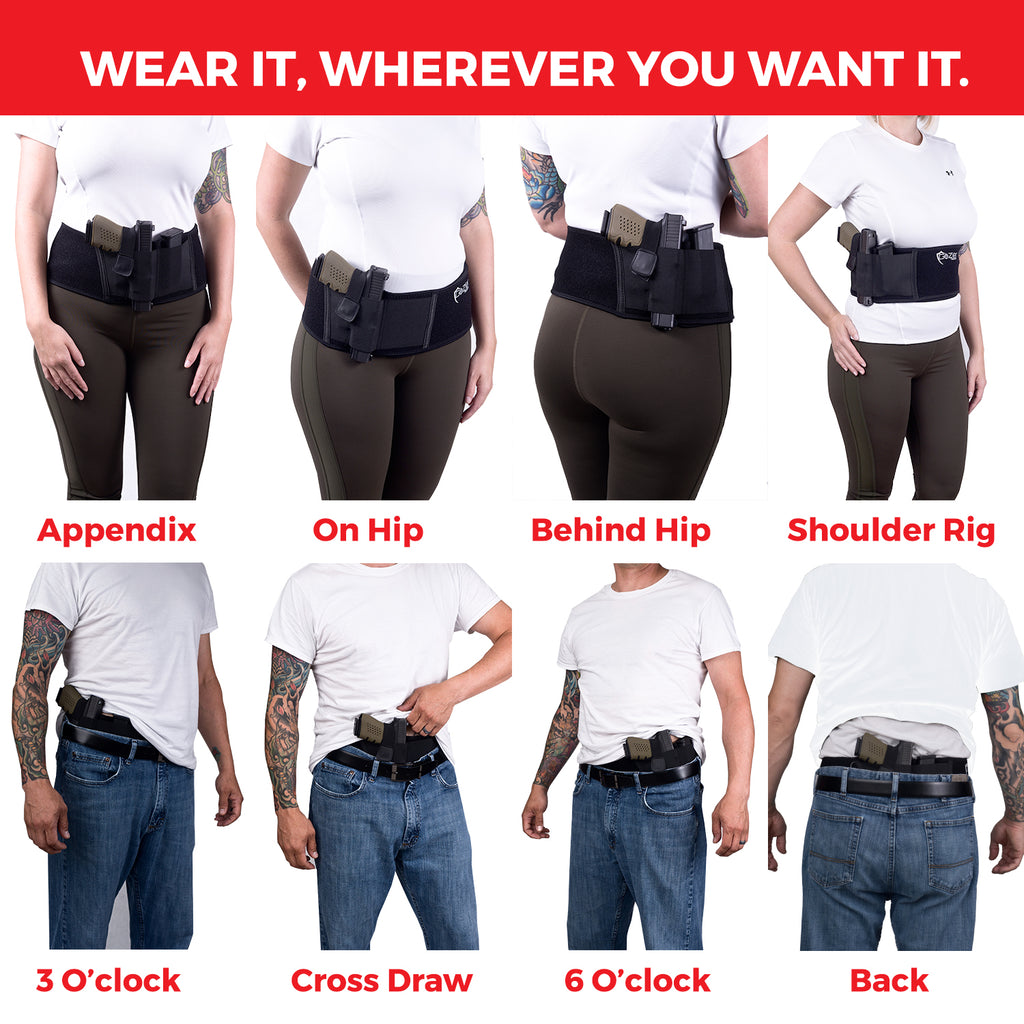 Belly Band Holster - Left Hand