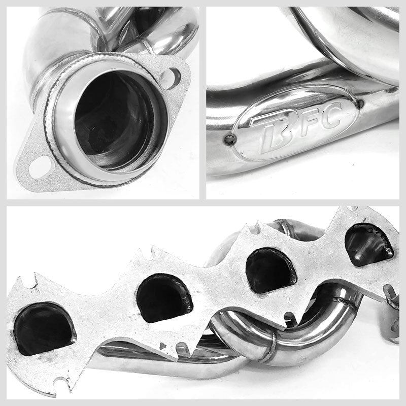 BFC Stainless Steel Exhaust Shorty Header Manifold Set For Ford 05-10 F250/F350 SuperDuty V8 5.4L-Performance-BuildFastCar