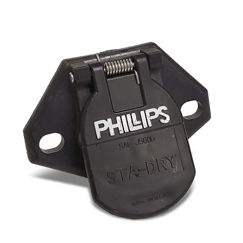 Phillips 16-720 7-Way Heavy Duty STA-DRY 2-Hole Wire Insertion Split Pin Socket-Electrical Connector-BuildFastCar