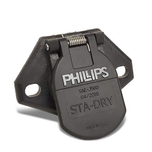 Phillips 16-722 7-Way HeavyDuty STA-DRY 2-Hole Ring Termination Split Pin Socket-Electrical Connector-BuildFastCar