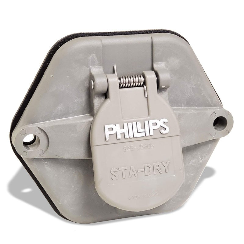 Phillips 16-7602-28 7-Way 28-pin Solid Pins w/o Circuit Breakers Socket Breaker-Electrical Connector-BuildFastCar