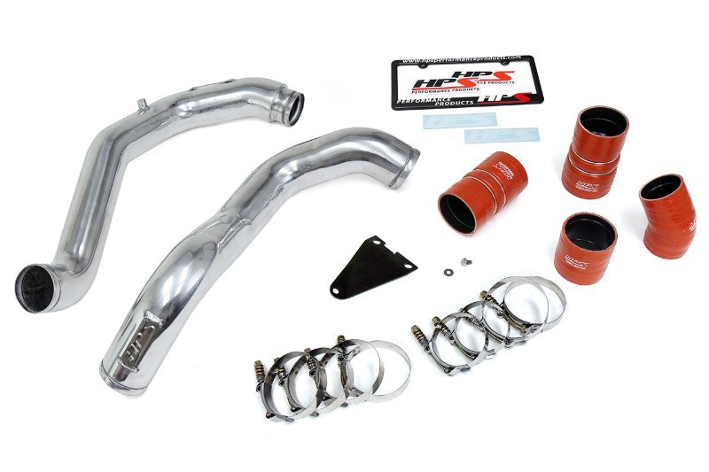 HPS Polish Hot & Cold Side Charge Pipe with Intercooler Boots Kit 03-07 Ford F550 Superduty-Air Intake Systems-BuildFastCar-17-105P-4