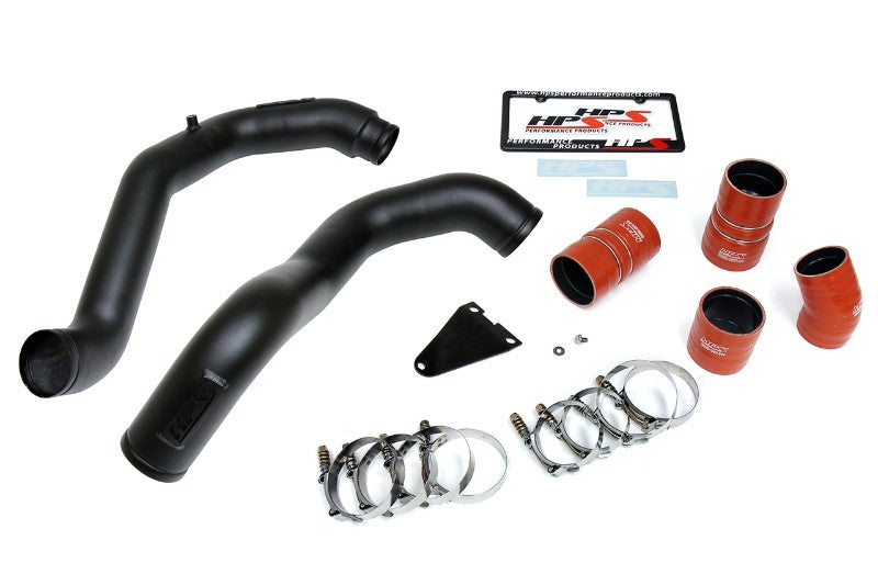 HPS Black Hot & Cold Side Charge Pipe with Intercooler Boots Kit 03-07 Ford F550 Superduty-Air Intake Systems-BuildFastCar-17-105WB-4