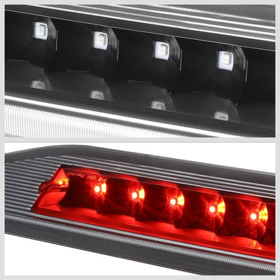 Black Housing Clear Lens LED Rear 3RD Third Brake Light For 08-09 Taurus X-Exterior-BuildFastCar