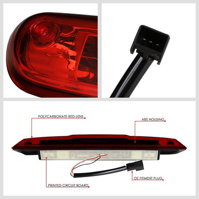 Chrome Housing Red Lens 3D LED Rear Third Brake & Cargo Light For 07-13 Sierra-Exterior-BuildFastCar