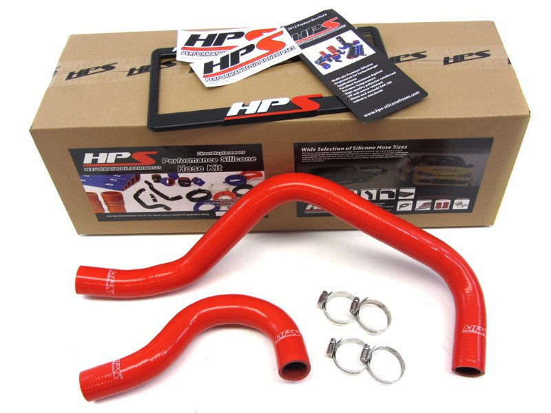 HPS Red 3-Ply Silicone Radiator Hose Kit for Acura 90-93 Integra LS RS GS GS-R-Performance-BuildFastCar