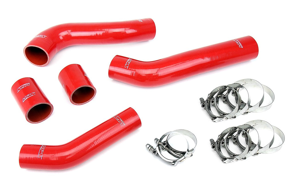 HPS Red 4-Ply Silicone Intercooler Hose Kit For Mitsubishi Lancer EVO 08-14 X Evolution-Performance-BuildFastCar