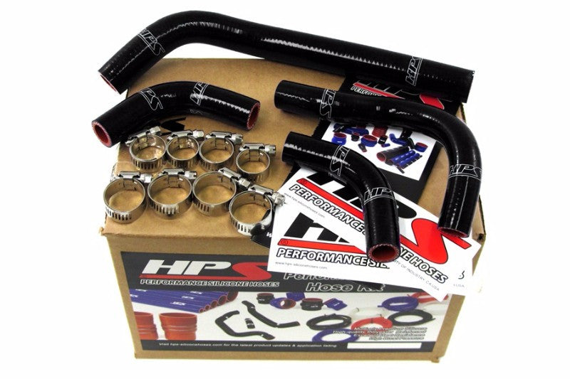HPS Black Silicone Bike Radiator Hose for Honda 04-09 CRF250X Coolant CRF 250X-Performance-BuildFastCar
