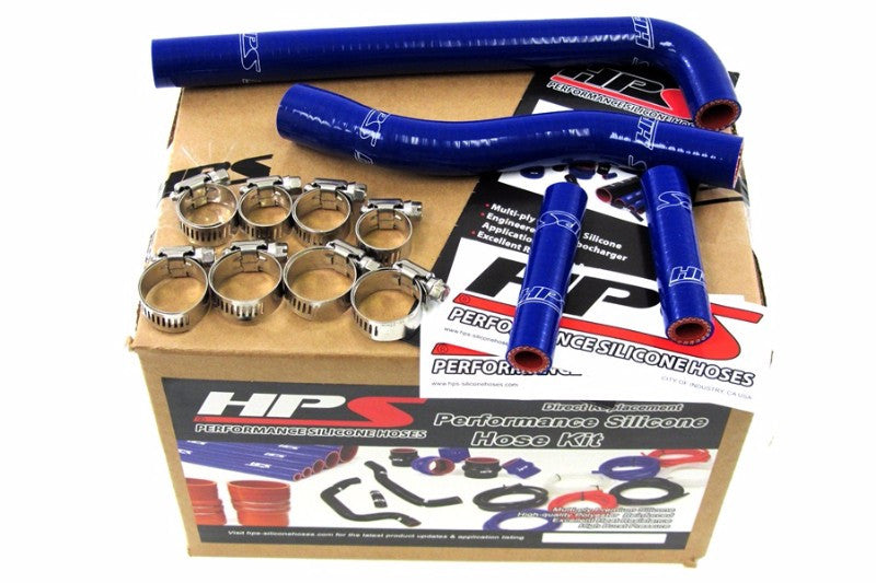 HPS Blue Silicone Bike Radiator Hose for Yamaha 01-06 WR250F Coolant WR 250F-Performance-BuildFastCar
