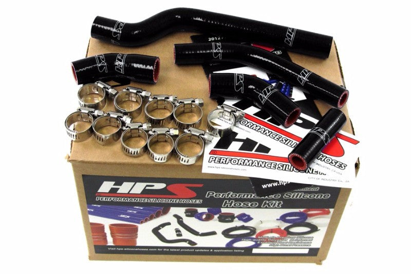 HPS Black Silicone Bike Radiator Hose for Yamaha 07-09 WR250F Coolant WR 250F-Performance-BuildFastCar