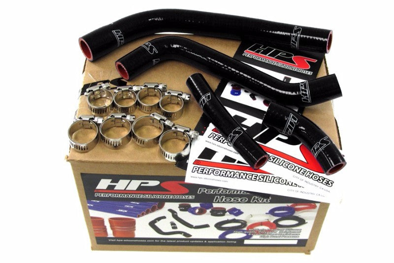HPS Black Silicone Bike Radiator Hose for Yamaha 10-12 YZ450F Coolant YZ 450F-Performance-BuildFastCar