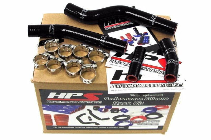 HPS Black Silicone Bike Radiator Hose for Yamaha 07-09 WR450F Coolant WR 450F-Performance-BuildFastCar