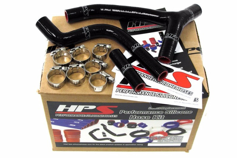HPS Black Silicone Bike Radiator Hose for Yamaha 10-11 YZ250F Coolant YZ 250F-Performance-BuildFastCar