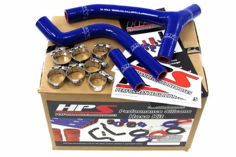 HPS Blue Silicone Bike Radiator Hose for Yamaha 10-11 YZ250F Coolant YZ 250F-Performance-BuildFastCar