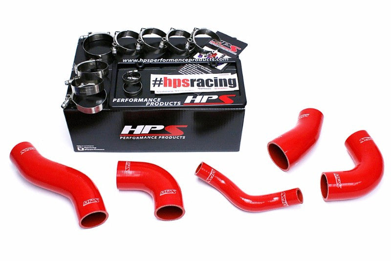 HPS Red 4-Ply Silicone Intercooler Turbo Hose Kit For Hyundai 11-14 Sonata 2.0 Turbo-Performance-BuildFastCar
