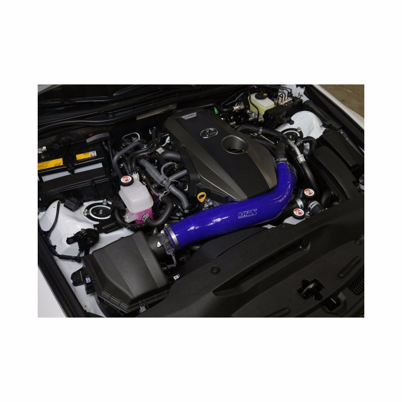 HPS Black Reinforced Silicone Post MAF Air Intake Hose Kit for Lexus 16-17 IS200t 2.0L Turbo-Performance-BuildFastCar