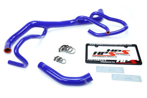 HPS Blue Silicone Radiator Hose Kit For Chevy 16-17 Camaro SS Coupe 6.2L V8-Performance-BuildFastCar