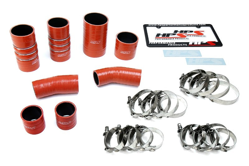 HPS High Temp Aramid Silicone Intercooler Hose Boots Kit for Ford 17-19 F150 Raptor 3.5L-Hose Kits-BuildFastCar-57-1672