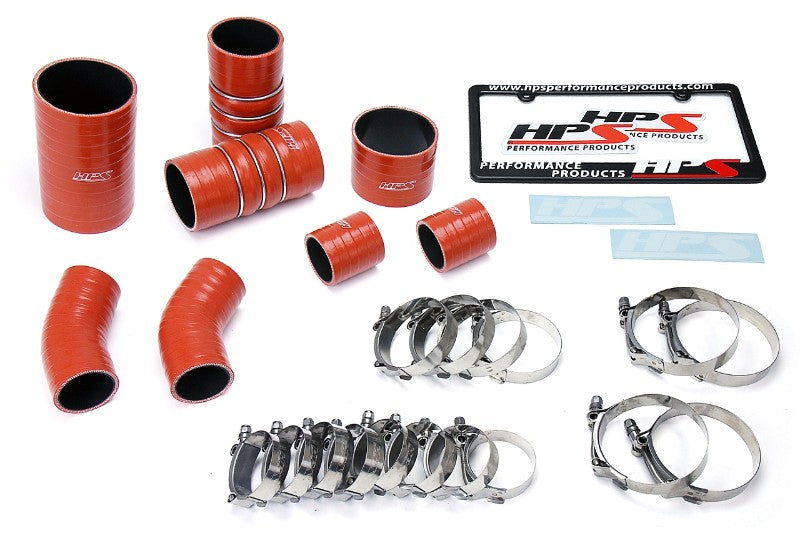 HPS High Temp Aramid Silicone Intercooler Hose Boots Kit for Ford 15-16 F150 3.5L-Hose Kits-BuildFastCar-57-1706