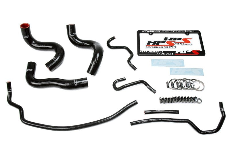 HPS Black Silicone Radiator Hose Kit Coolant for 09-13 Toyota Corolla 1.8L-Performance-BuildFastCar