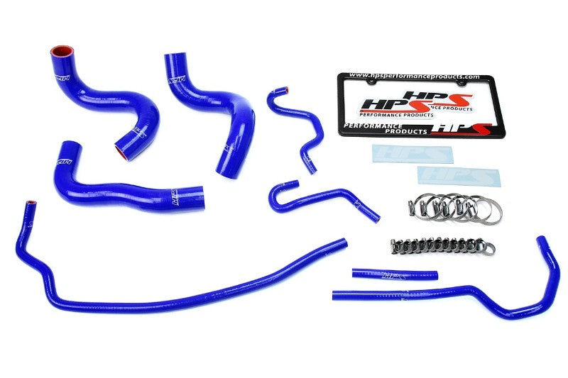 HPS Blue Silicone Radiator Hose Kit Coolant for 09-13 Toyota Corolla 1.8L-Performance-BuildFastCar