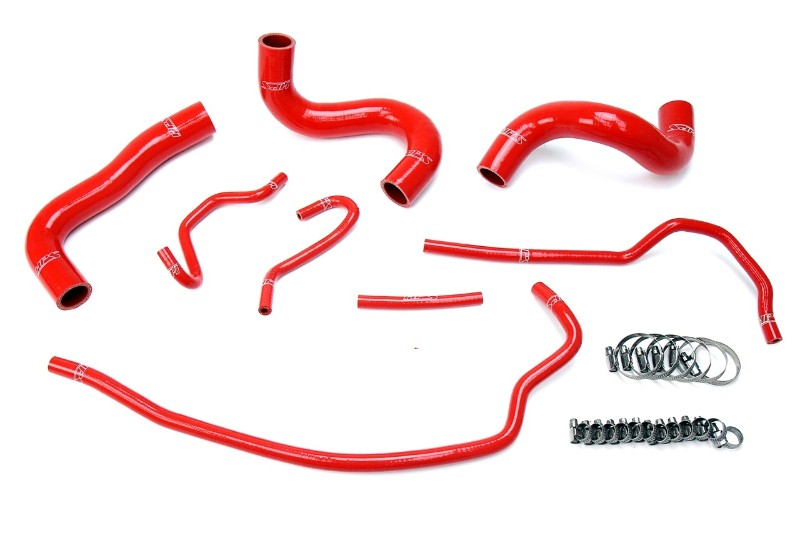 HPS Red Silicone Radiator Hose Kit Coolant for 09-13 Toyota Corolla 1.8L-Performance-BuildFastCar