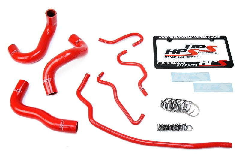 HPS Red Silicone Radiator Hose Kit Coolant for 14-18 Toyota Corolla 1.8L-Performance-BuildFastCar