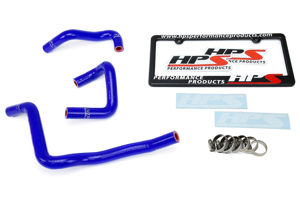 HPS Blue Reinforced Silicone Engine Oil Cooler Coolant Hose Kit for Infiniti 03-07 G35 3.5L V6 VQ35DE RWD-Hose Kits-BuildFastCar