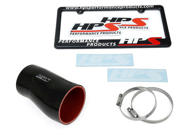 HPS Black Silicone Post MAF Air Intake Hose Kit for Honda 17-19 Civic X Type R 2.0L Turbo-Air Intake Systems-BuildFastCar