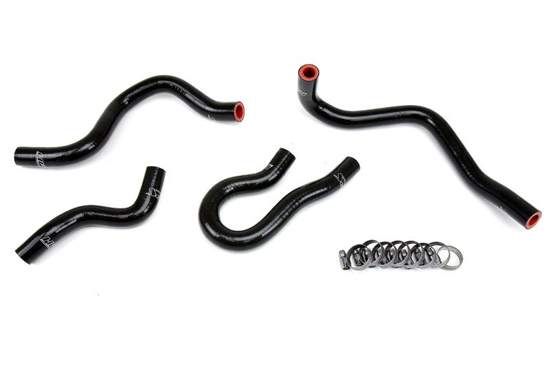 HPS Black Silicone Heater Hose Kit Coolant For 99-00 Honda Civic Si B16 1.6L-Performance-BuildFastCar