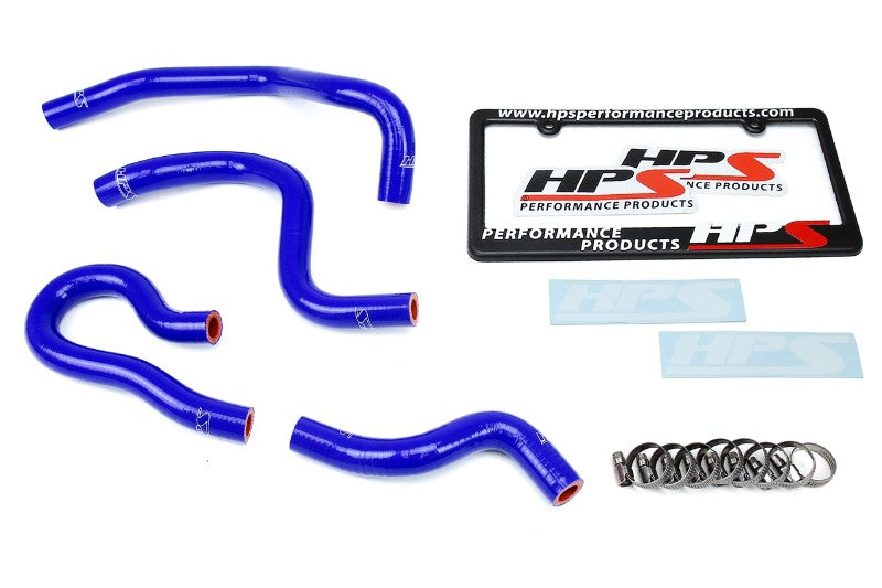 HPS Blue Silicone Heater Hose Kit Coolant For 99-00 Honda Civic Si B16 1.6L DOHC-Performance-BuildFastCar