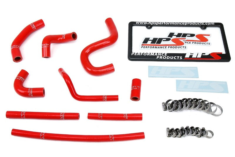 HPS Red Silicone Heater Hose Kit For 96-02 Toyota 4Runner with rear heater-Performance-BuildFastCar